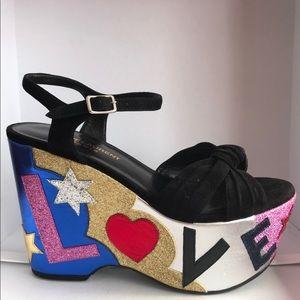 Saint Laurent Candy Love Suede Platforms Size 36